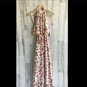 Lovers+Friends Golden Ray Maxi Popover Dress Gown